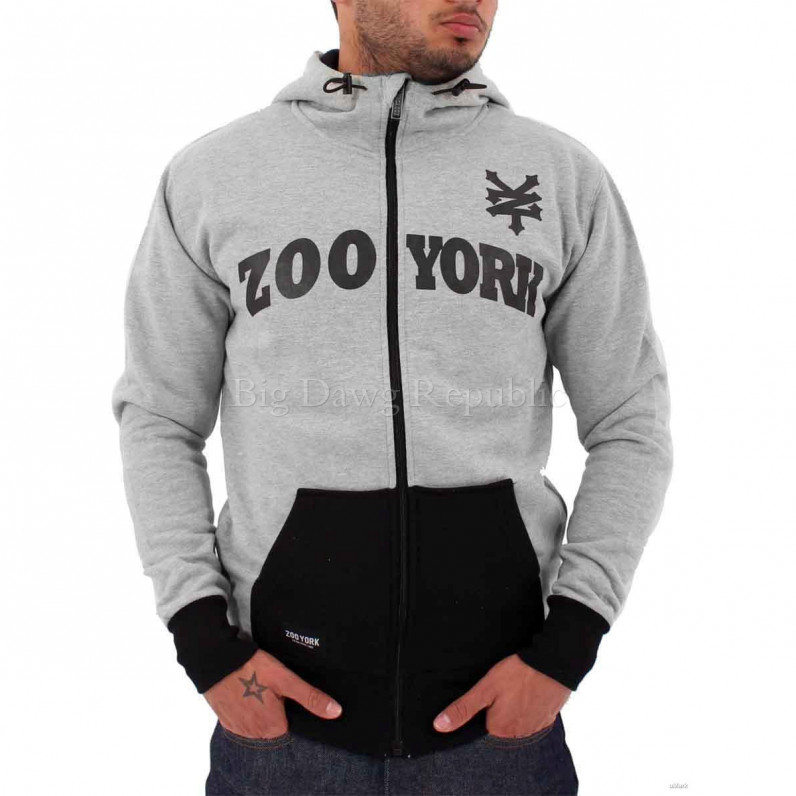 Grey Apollo Zip Up Skater Star Hoodie