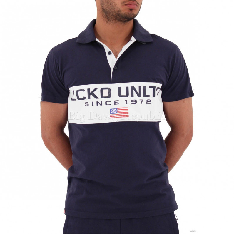 Navy Dodger USA Short Sleeve Polo Shirt