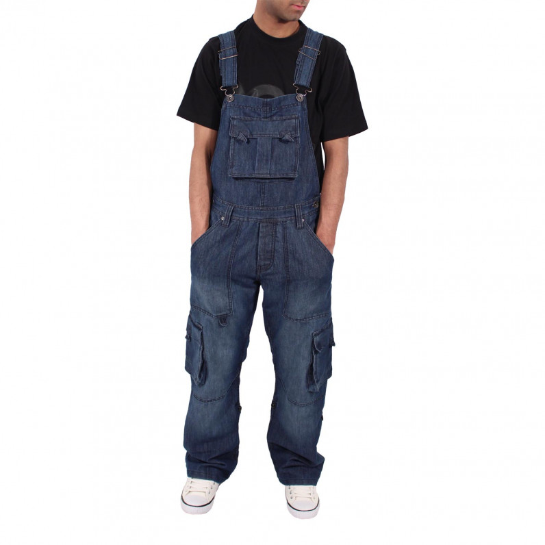 Willington Dark Wash Blue Denim Dungarees