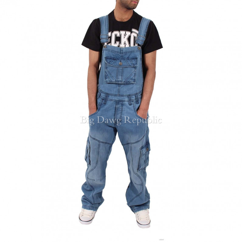 Harbour Stone Wash Blue Denim Dungarees