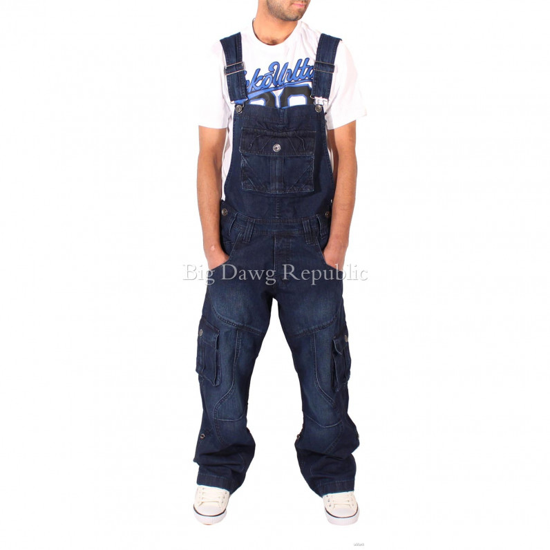 Harbour Dark Wash Blue Denim Dungarees