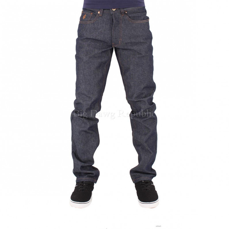 Men's Double R Raw Indigo Relaxed Fit Jeans