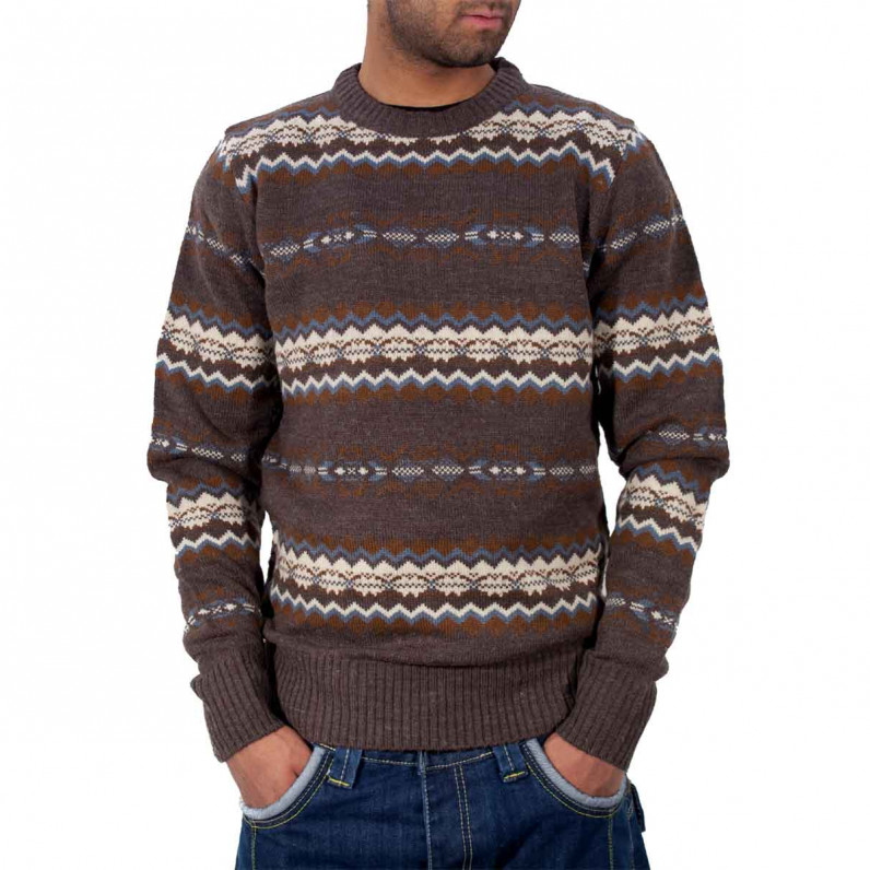 Dark Grey Marl Crew Neck Knitted Jumper 1A-2957