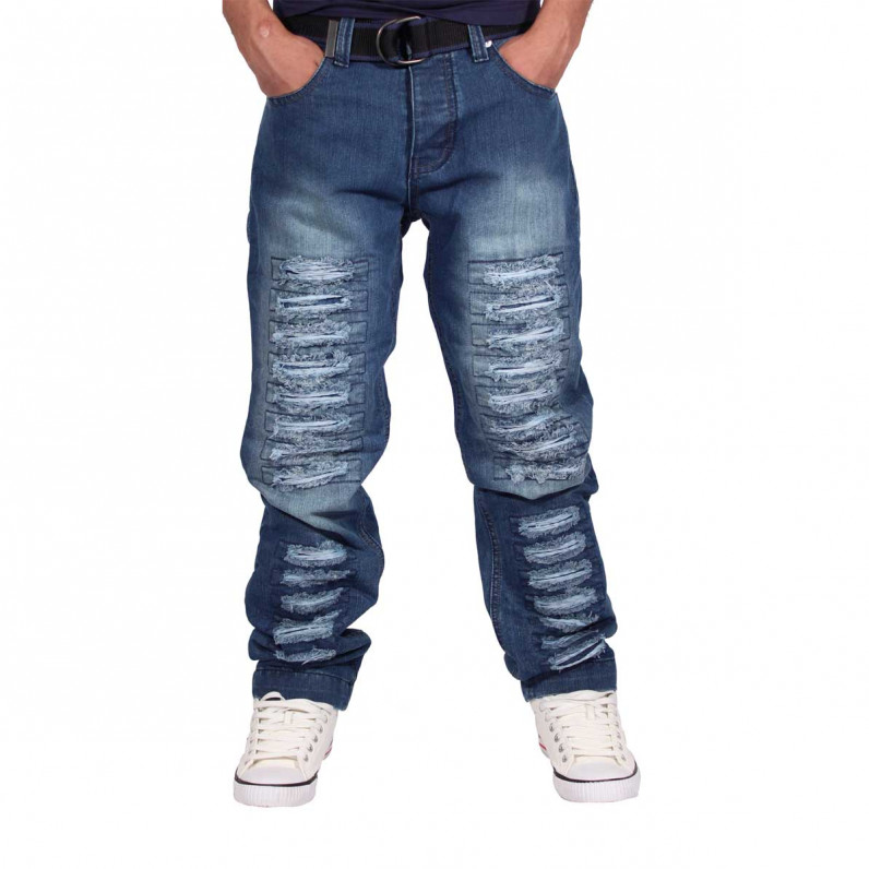 Ripped Frayed Kingscross Denim Jeans