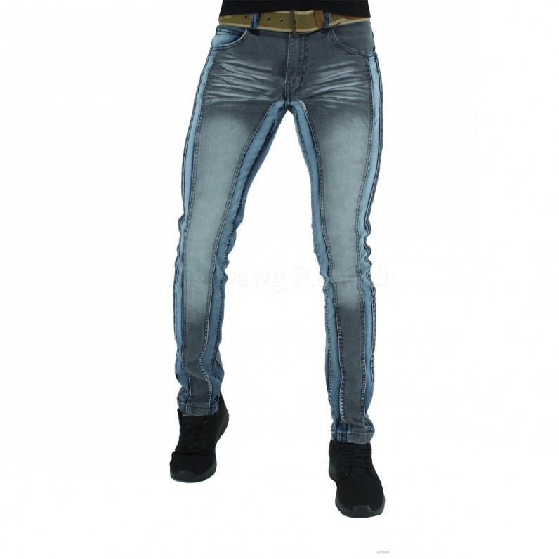 Illinois Slim Fit Blue Distressed Blast Jeans