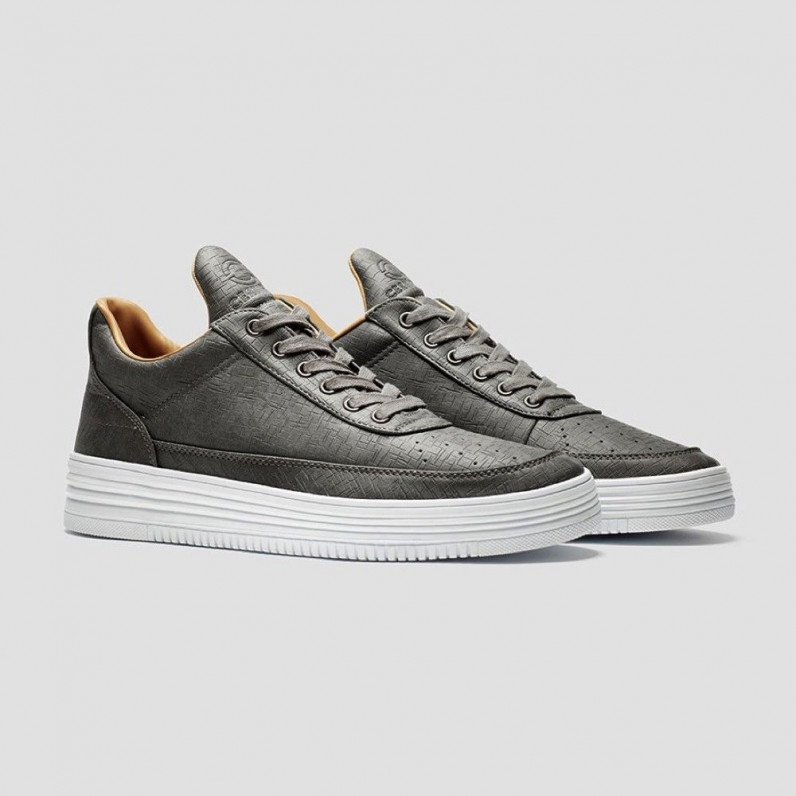 Grey Hip Hop Skateboarding Cupsole Trainers