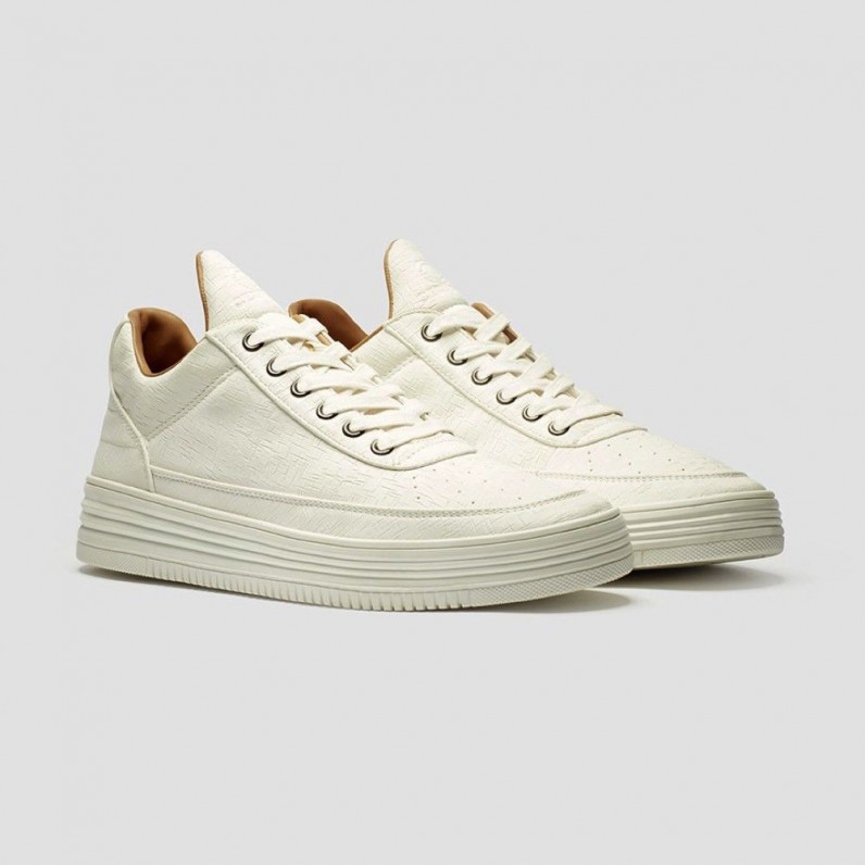 White Hip Hop Skateboarding Cupsole Trainers