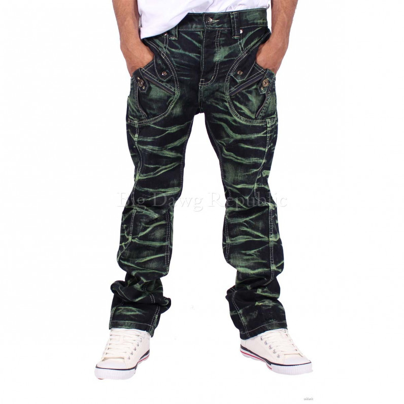 Men's Green Kennet Blast Urban Denim Jeans