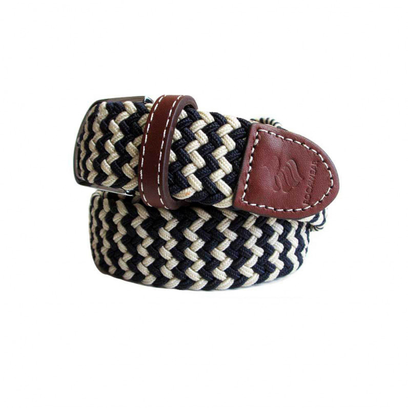 Navy Elastic Stretch Webbed Braided Belt