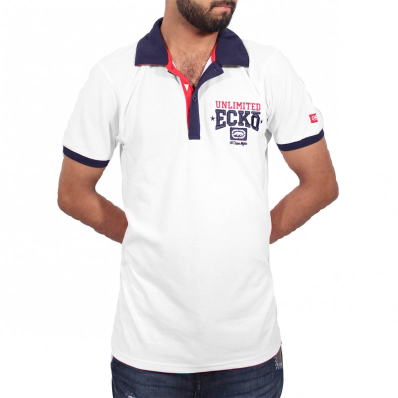 Men's White Magnum Polo T-Shirts