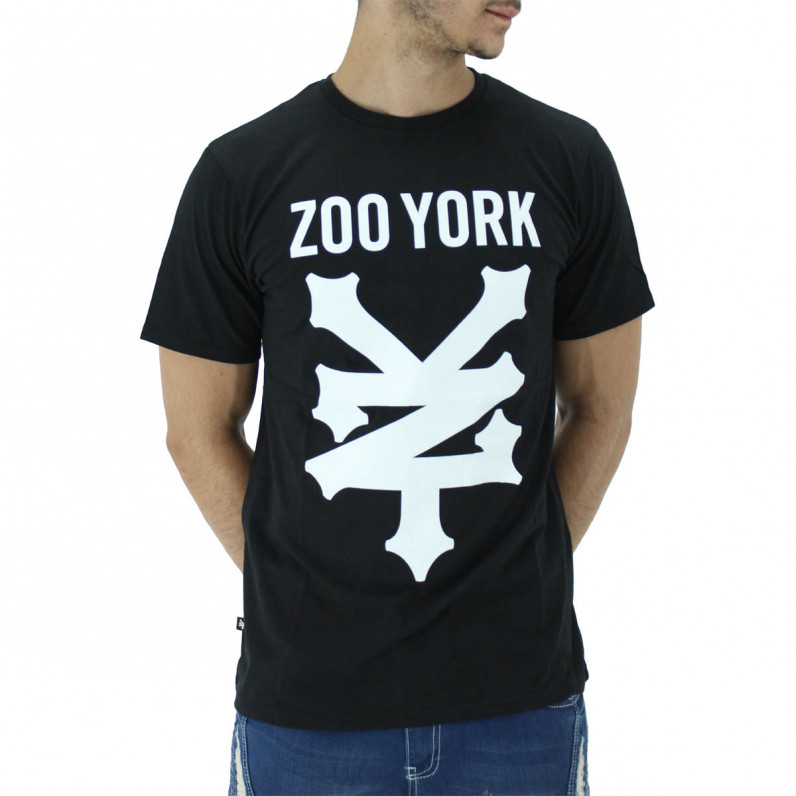 Black Ramped Summer Graphic Print Cotton Tee Shirts