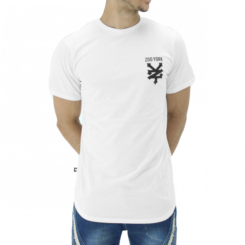 White Pipe Summer Graphic Print Cotton Tee Shirts