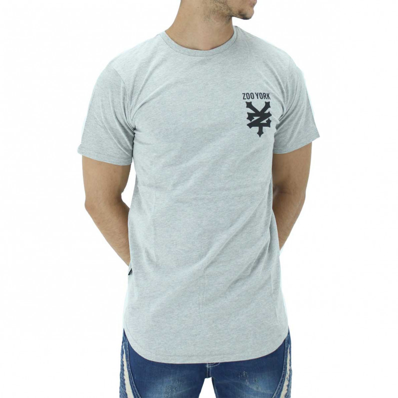 Grey Pipe Summer Graphic Print Cotton Tee Shirts