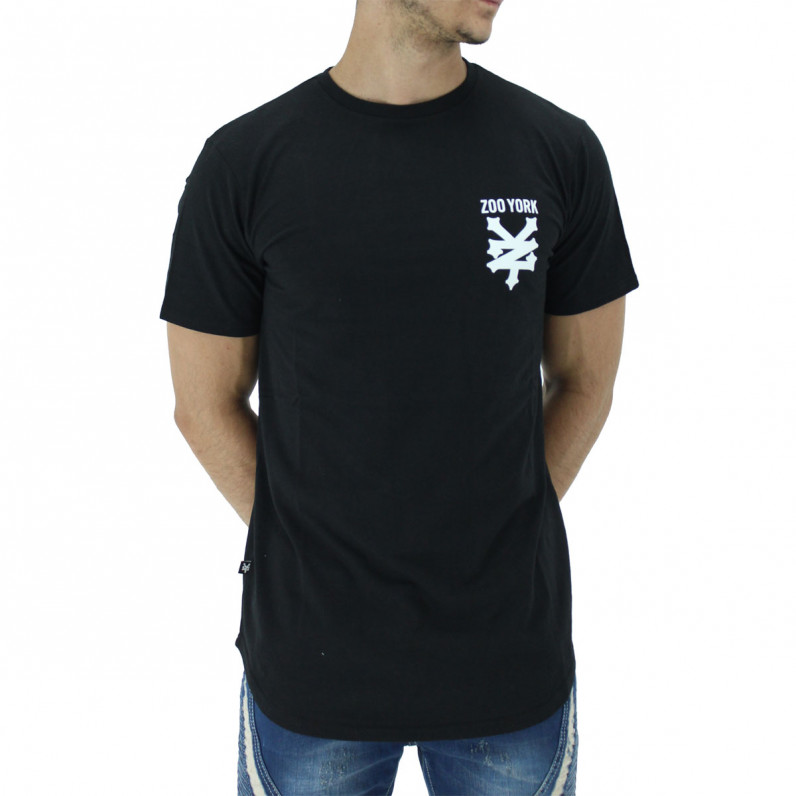 Black Pipe Summer Graphic Print Cotton Tee Shirts