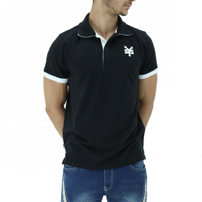 Black Summer Cotton Polo Tee Shirts