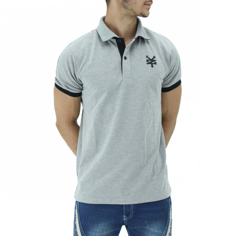 Grey Summer Cotton Polo Tee Shirts