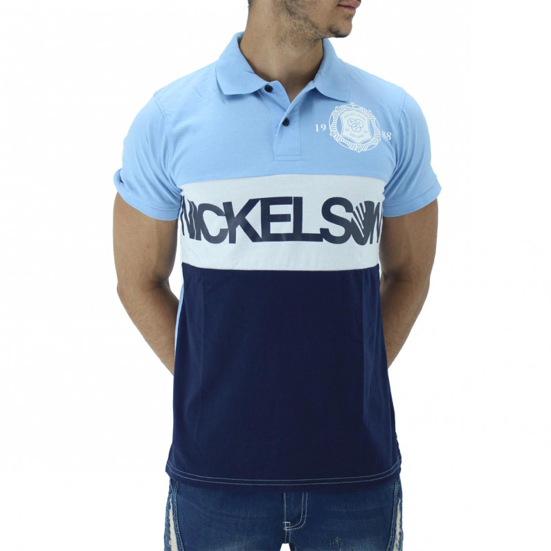 Blue Summer Cotton Polo Tee Shirts