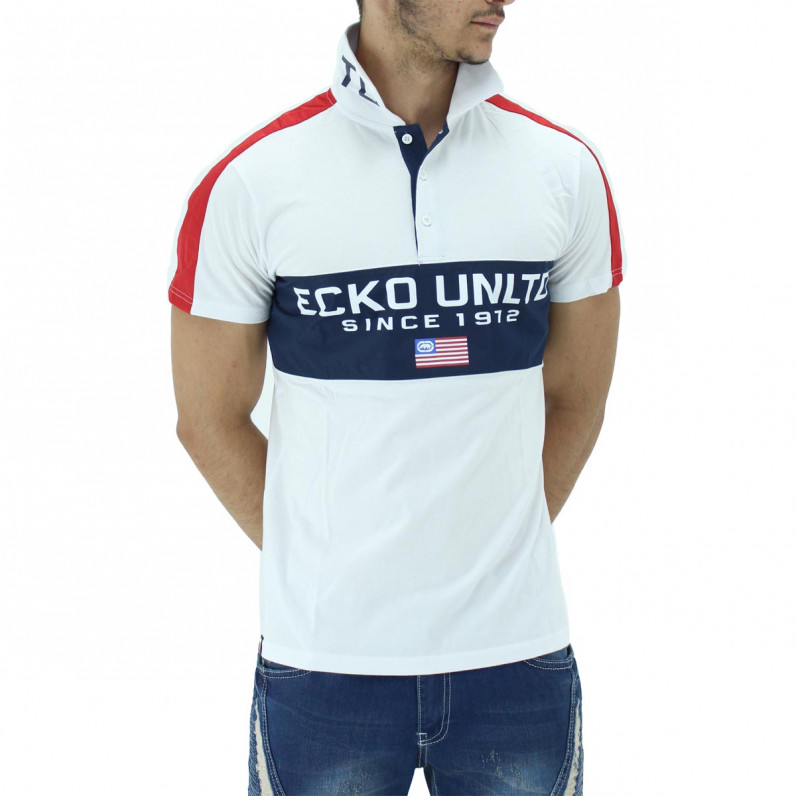 White Dodger Summer Cotton USA Polo Tee Shirts