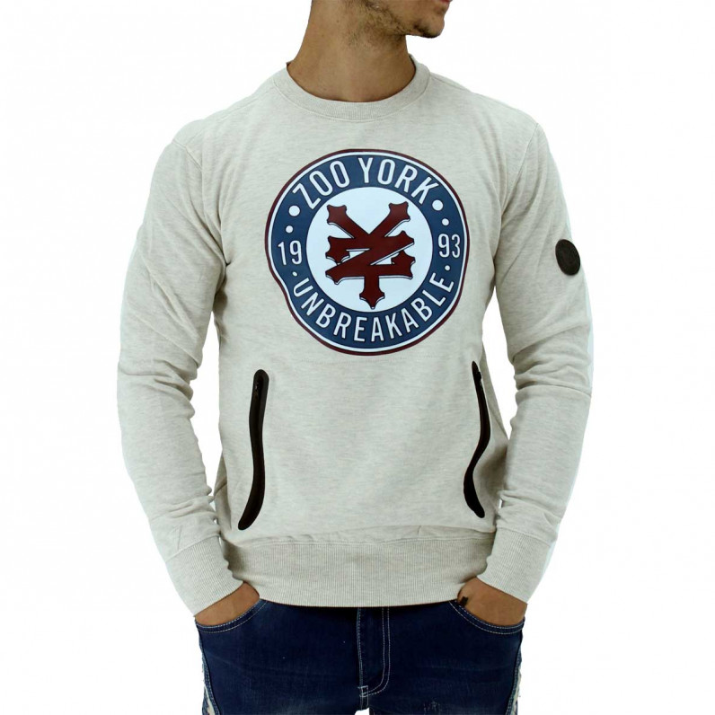 Oatmeal Grey Street League Crew Sweatshirt