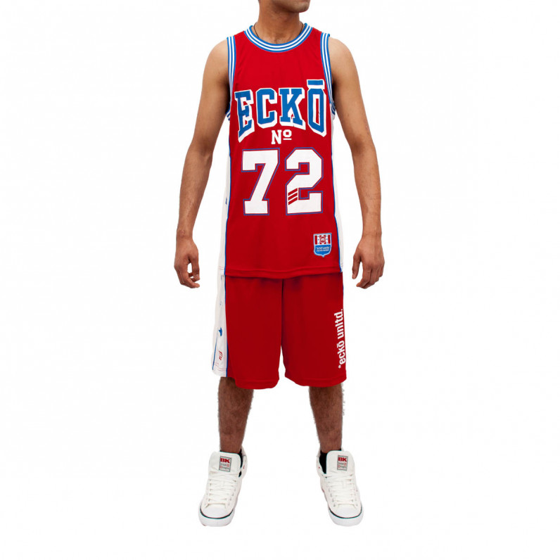 Red Basketball Shorts and Vest Set