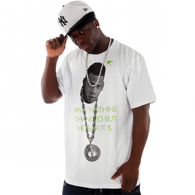 White Cotton Hova Jay Z T-Shirt