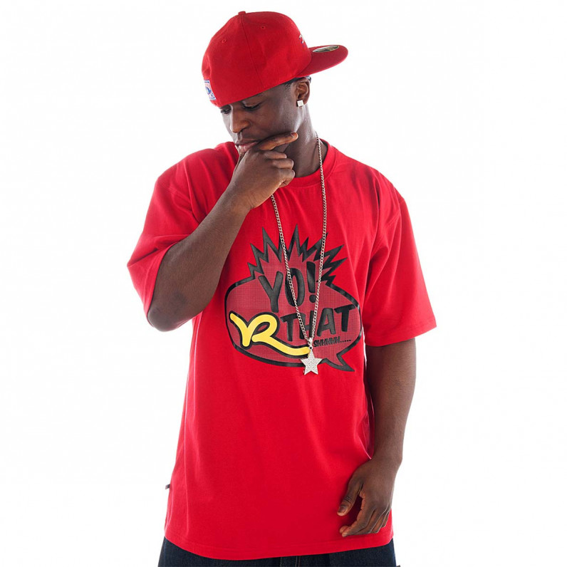 Red Cotton Yo Roc Star T-Shirts