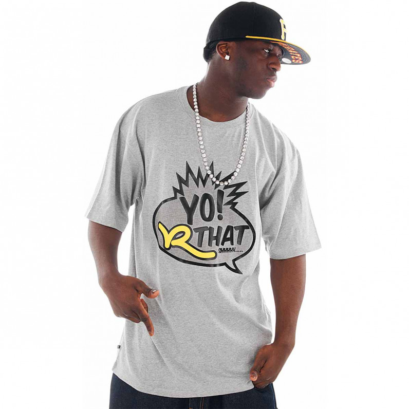 Grey Cotton Yo Roc Star T-Shirts