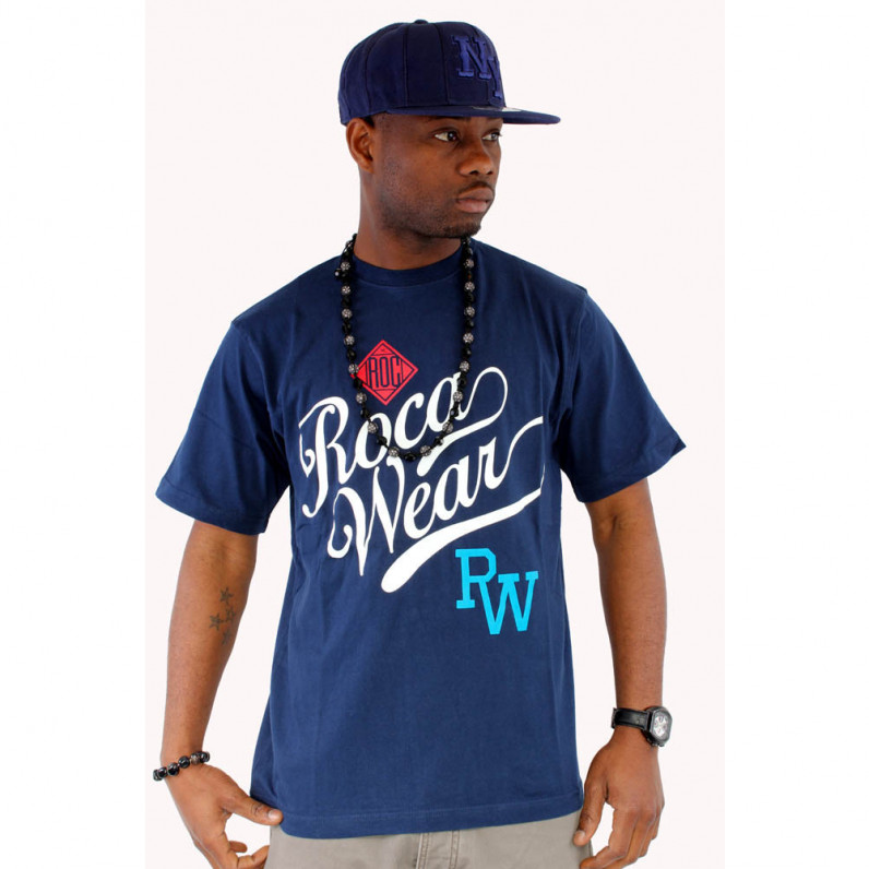Blue Cotton Wesley T-Shirts