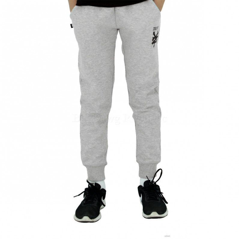 Boys Girls Grey Davidino Slim Fit Fleece Jog Sweat Pants