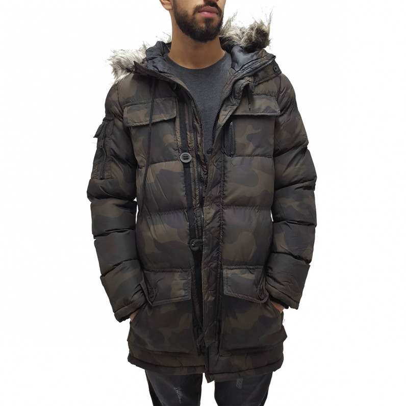 Camouflage Parka Puffer Padded Hooded Jacket