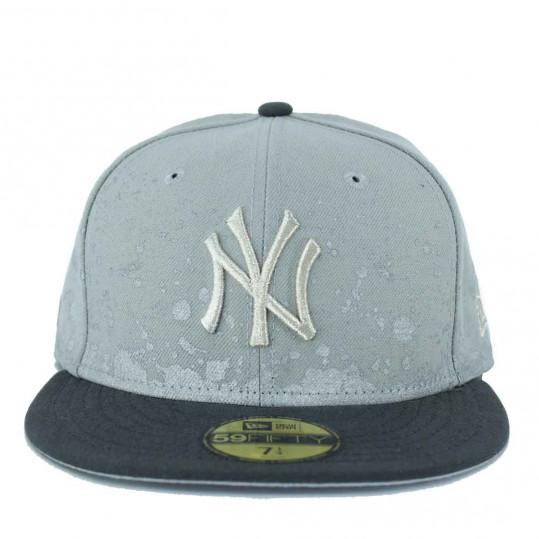 24042e1d488 New Era MLB 59Fifty NY New York Yankees Splatter Grey Fitted Caps