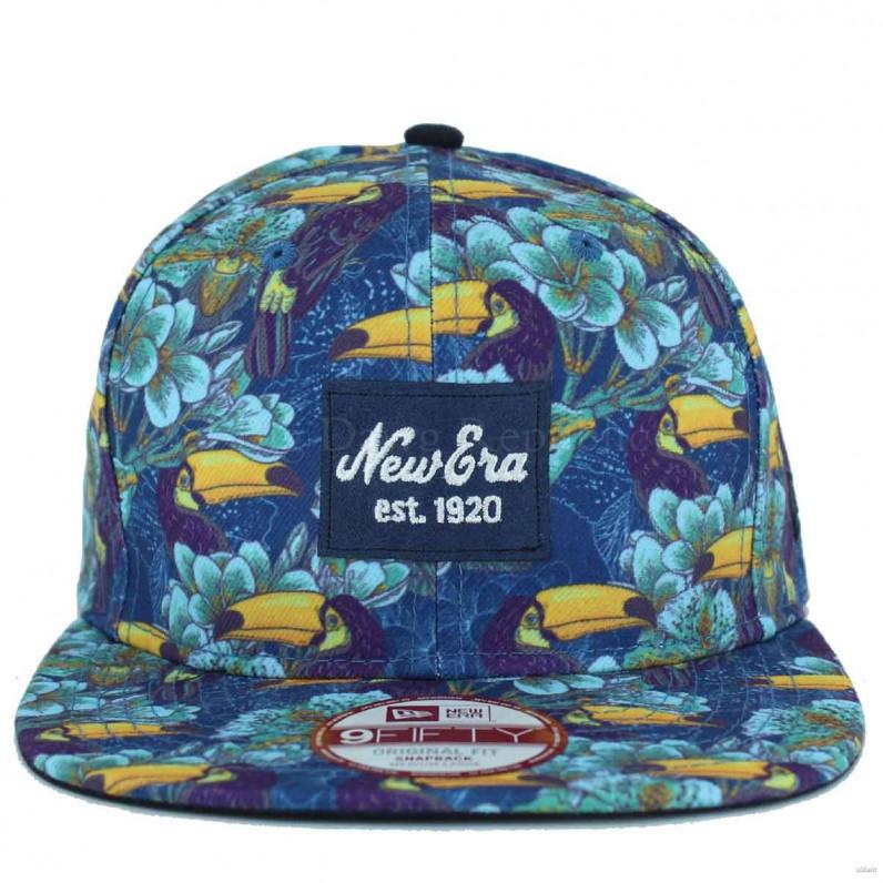 img 9Fifty Tropical Print Blue Snapback Caps 21f17d071de5