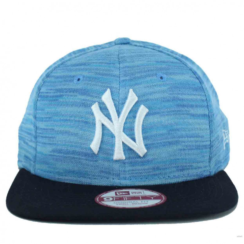 MLB 9Fifty Light Weight Sky Blue Knitted NY New York Yankees Snapback