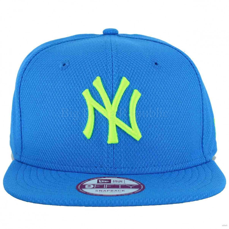 MLB 9Fifty NY New York Yankees Blue Lime Snapback Cap