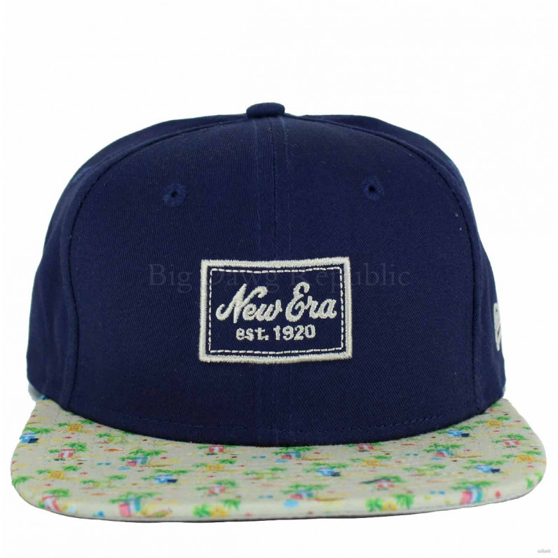 9Fifty Navy Micro Pattern 950 Original Fit Snapback Caps
