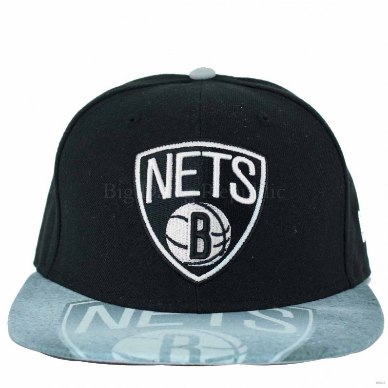 NBA 59Fifty Brooklyn Nets Black Grey Fitted Baseball Caps