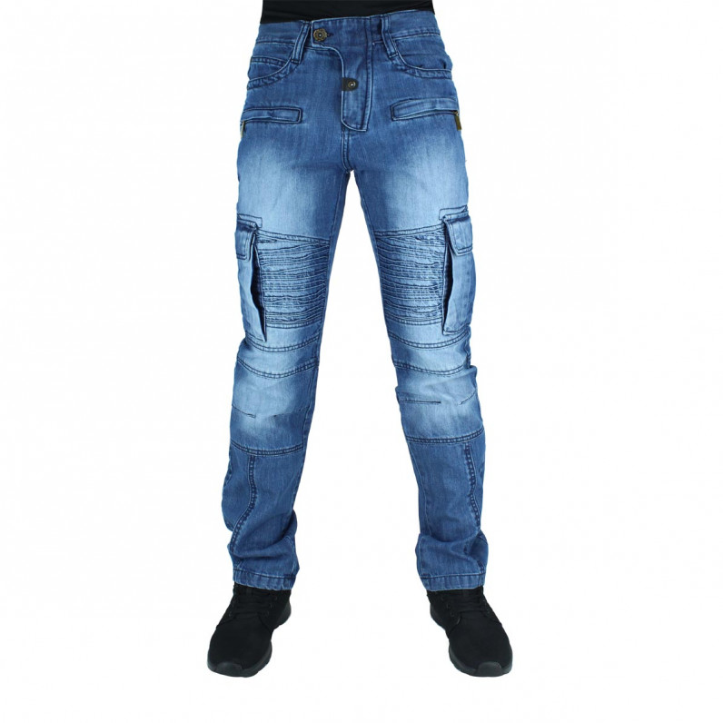 Men's Denim Blue Cargo Combat Kentucky Jeans