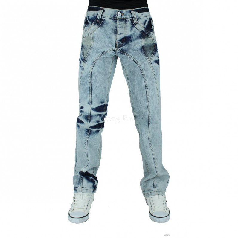 Denim Ice Wash Blue Eastbourne Bleached Jeans