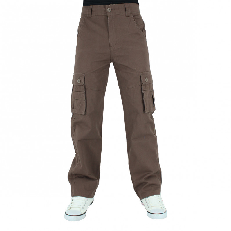 Men's Brown Cargo Combat Pants