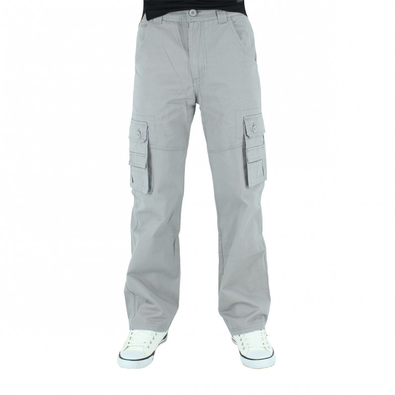 Men's Grey Cargo Combat Pants
