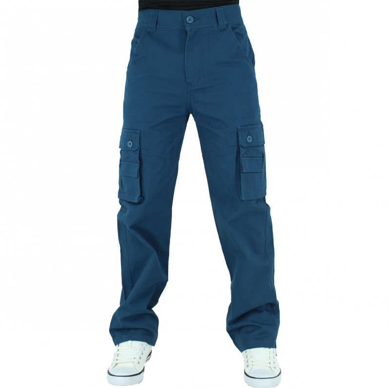Men's Navy Cargo Combat Pants