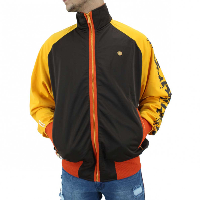 Men's Lightweight Chocolate Brown Zip Up Track Jacket