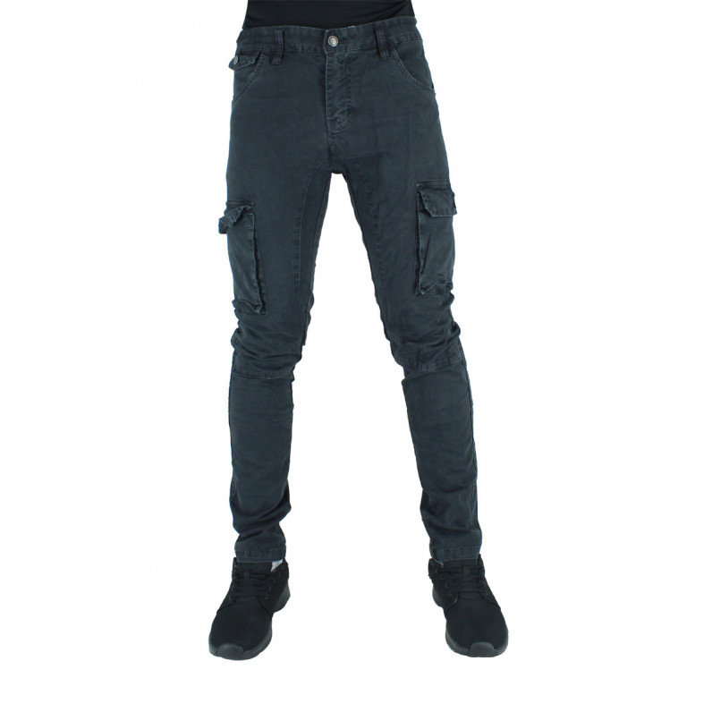 Black Army Cotton Cargo Combat Slim Fit Military Pants