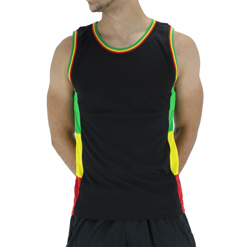 Men's Designer Rasta Sleeveless Vest