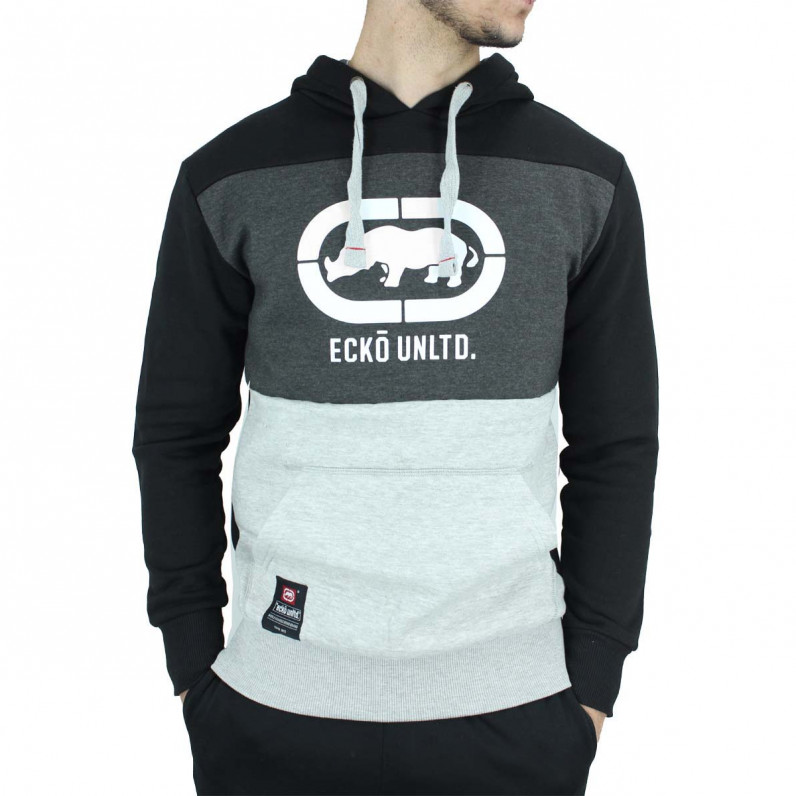 Men's Black Grey Dawn Designer Overhead Hoodie