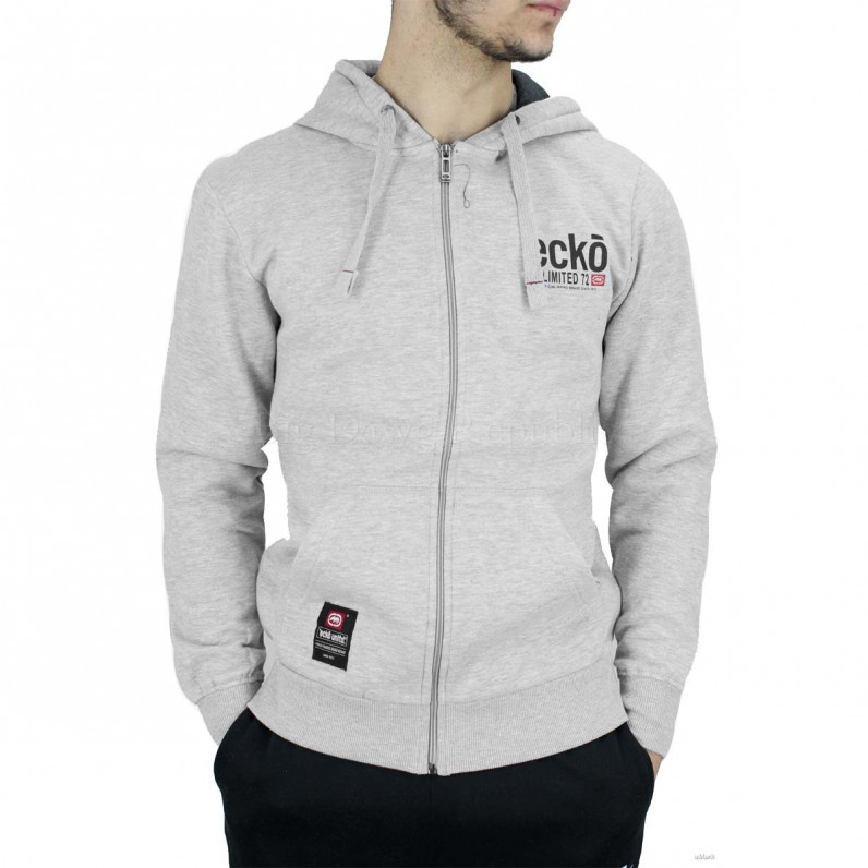 Men's Grey Vantage Designer Zip Up Hoodie