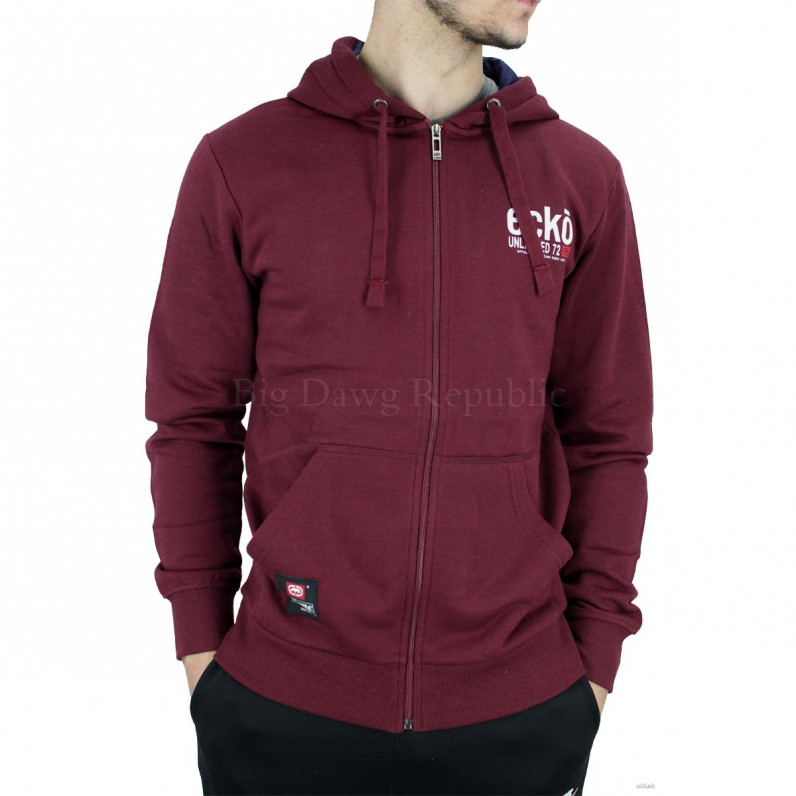 Men's Red Vantage Designer Zip Up Hoodie
