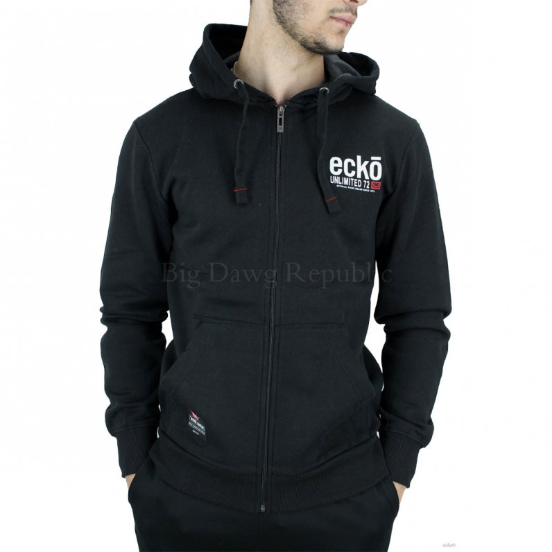 Men's Black Vantage Designer Zip Up Hoodie
