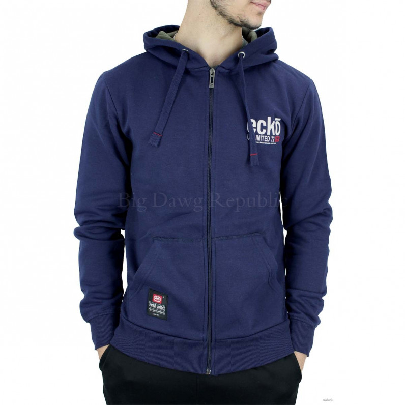 Men's Navy Vantage Designer Zip Up Hoodie