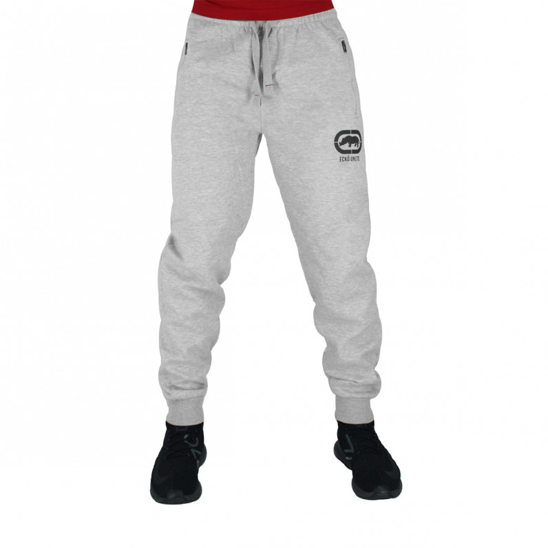 Men's Wraith Grey Black Cotton Jog Pants